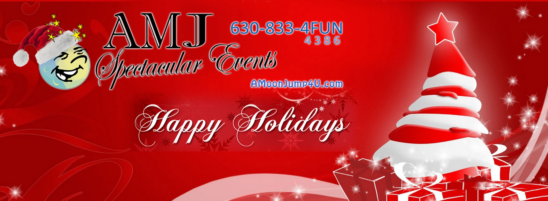 Happy Holidays from AMJ Spectacular Events Inflatable Rentals Chicago Illinois