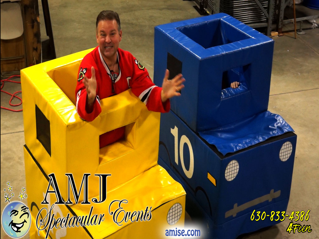 AMJ Spectacular Events A Moon Jump 4U Human Bumper Cars