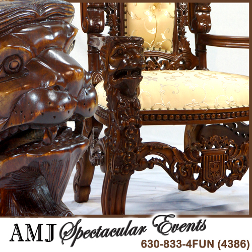 AMJ Spectacular Events Santa Throne Premium Gold