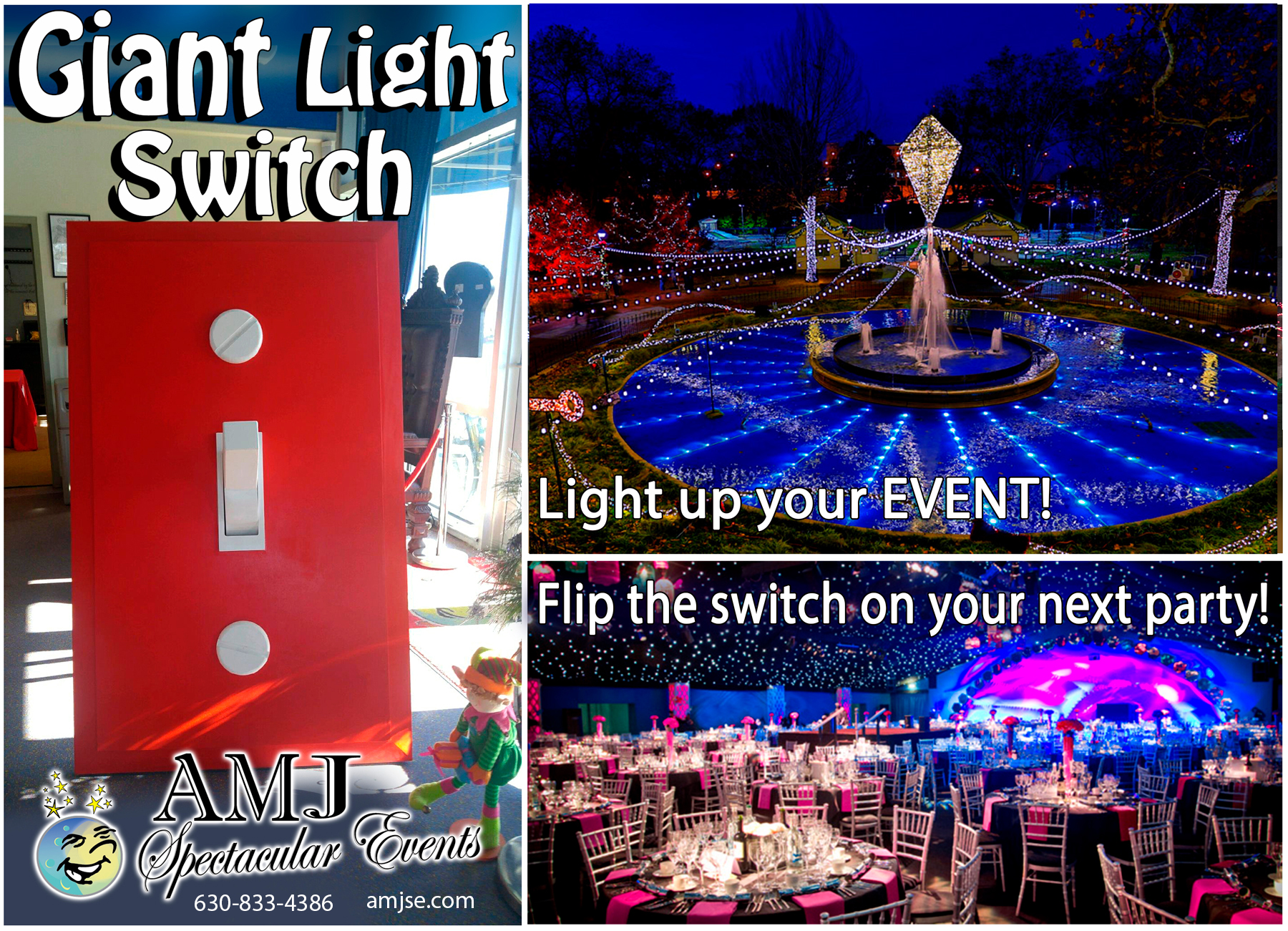 AMJ Spectacular Events Christmas Rentals Holiday Rentals  Spectacular Event Giant Light Switch