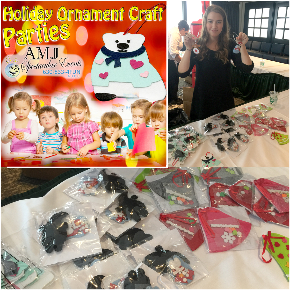 Kids Holiday Ornament Craft Events from AMJ Spectacular Events