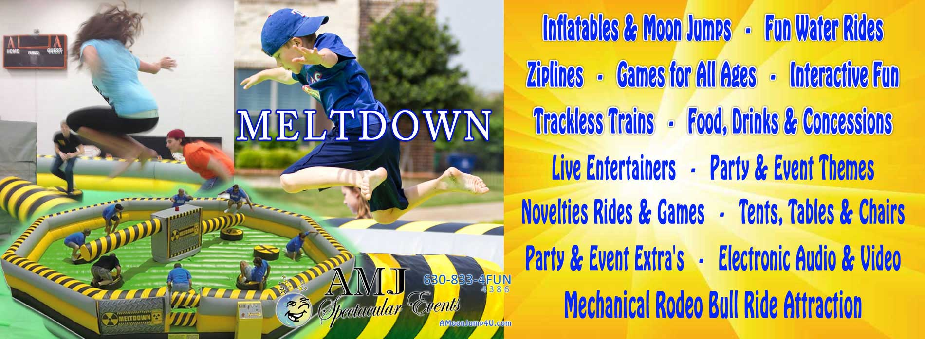 Meltdown Inflatable Rental From Wipeout Chicago Illinois