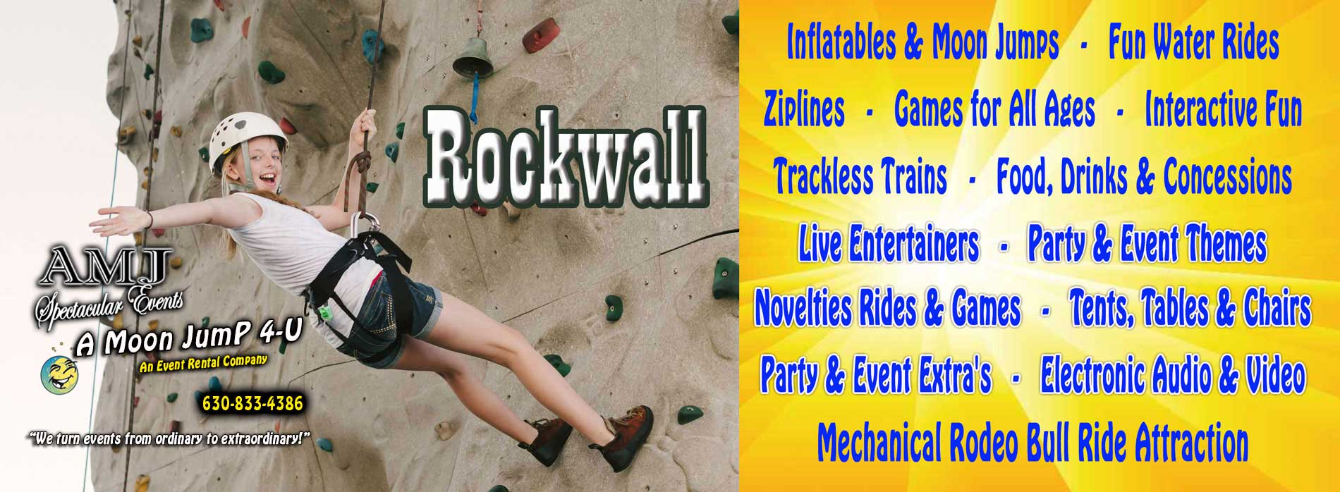 Rock Climbing Wall | Rockwall Rental Chicago IL