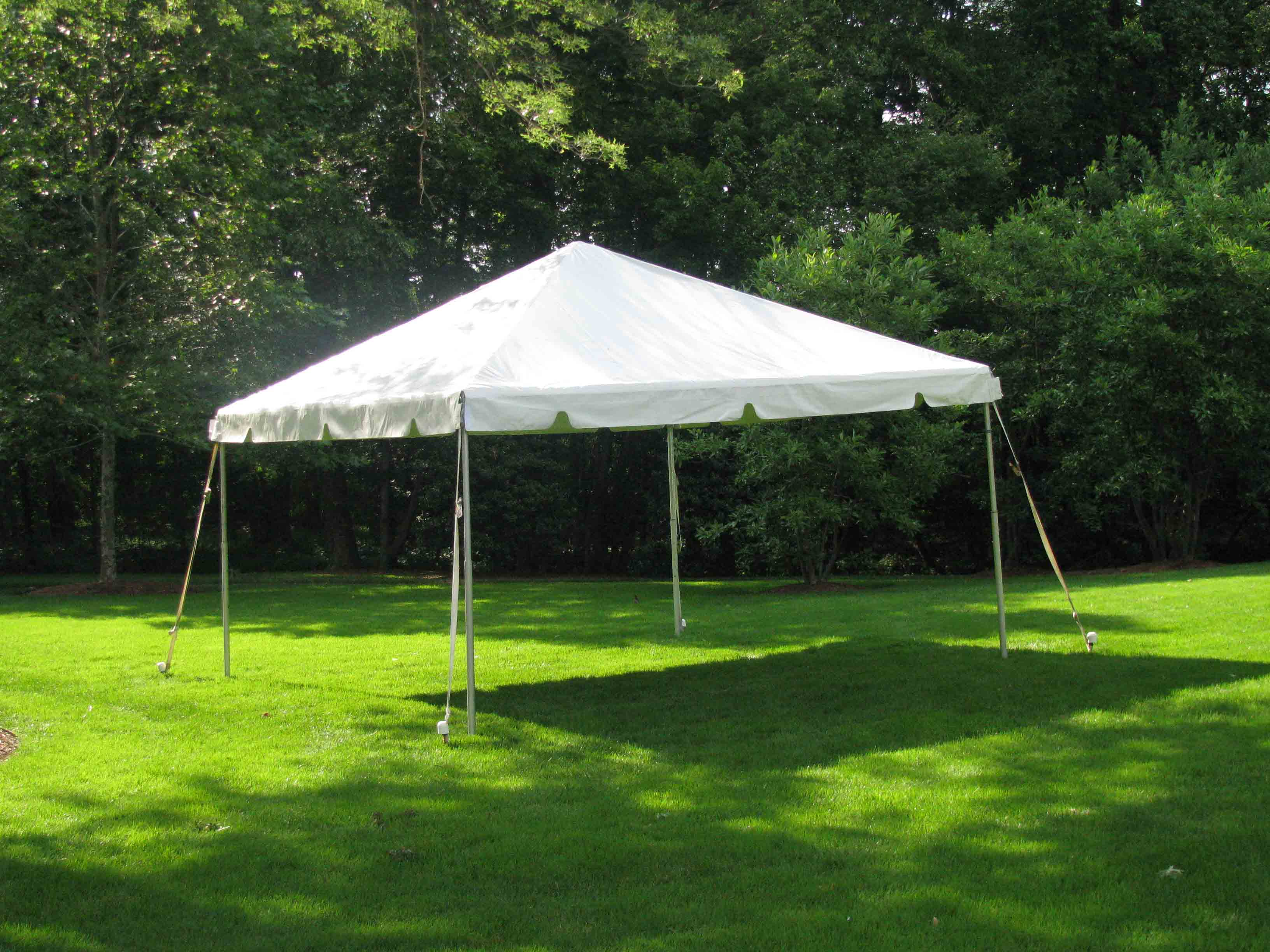 15x15 ft frame tent rental