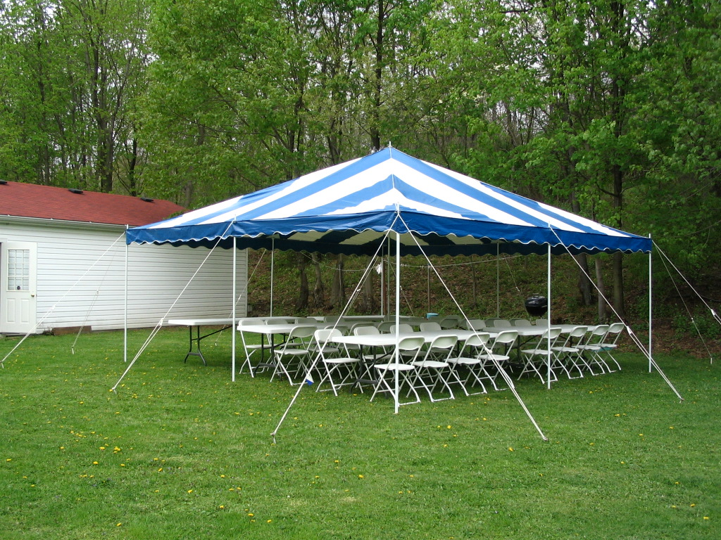 20x20 ft Blue u0026 White canopy Tent Rental & Rent 20x20 ft Blue u0026 White Canopy Tent in Chicago IL | Canopy ...