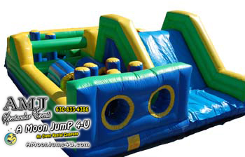 50' Double Lane Inflatable Obstacle Course Rental