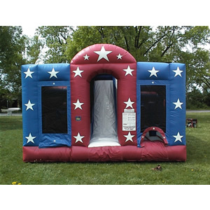 70' Double Lane Inflatable Obstacle Course Rental