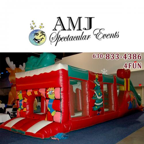 40' Christmas Inflatable Obstacle Course Rental