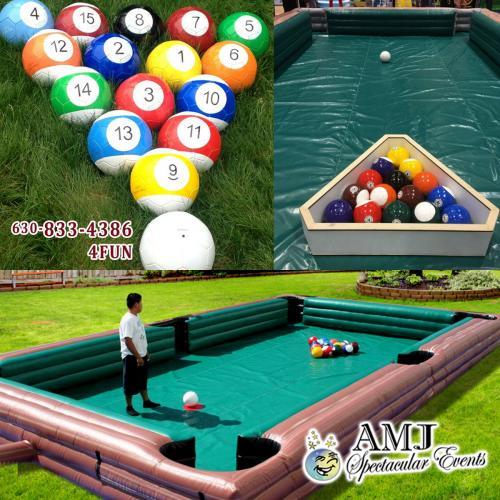 Giant Human Billiards Game - Human pool table