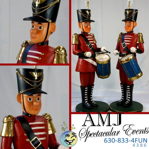 indoor santa statues wooden soldiers or wooden drummer boys statue props for your holiday party - Toy Soldier Christmas Decoration
