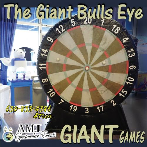 Bulls Eye Inflatable Dart Board Game Rental