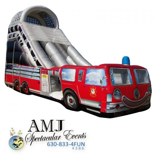 Fire Truck Inflatable Slide Rental