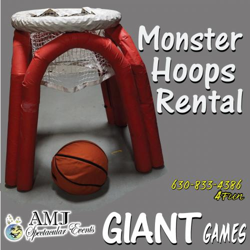 Looking for some monster-sized fun? Bring the fun and excitement of Monster Hoops to your next event or party.