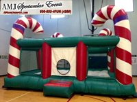 Candy Cane Inflatable Bounce House Rental for Holidays