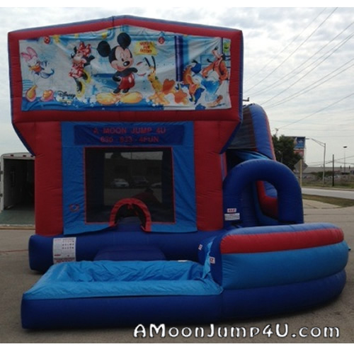 Jump-n-Splash 4-in-1 Bounce House + Water Slide Rental