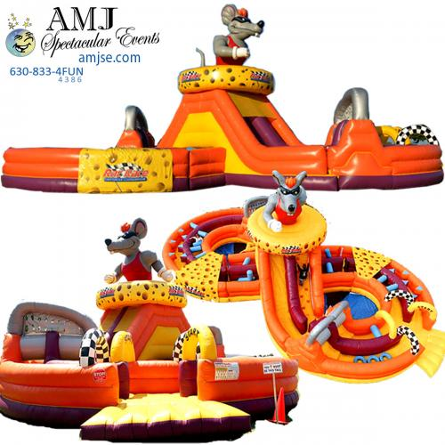 58' Rat Race Inflatable Obstacle Course Rental