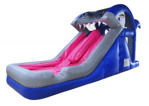 Shark Themed Inflatable Water Slide