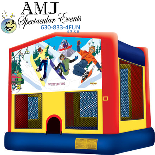 Winter Themed Inflatable Bounce House Rental