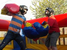 Bouncy Boxing Ring Inflatable Game Rental