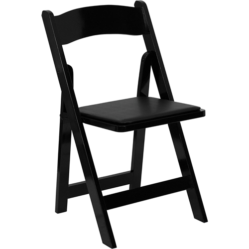 Black Wooden Folding Chairs Rental