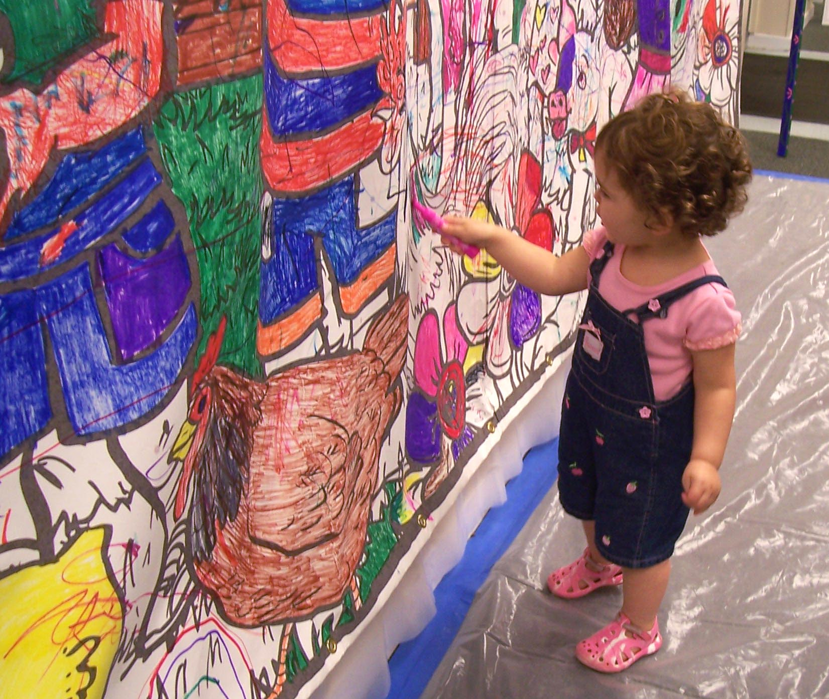 Rent Coloring Murals in Chicago, IL | Giant Coloring Book Pages with ...