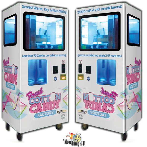 Cotton Factory: Rent Coin Operated Self Serving Cotton Candy Dispenser In