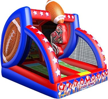 Inflatable Double Football Toss Rental