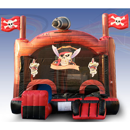 Pirates Combo Inflatable Bounce House + Slide Rental