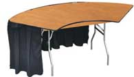 Serpentine Rounded Folding Tables Rental