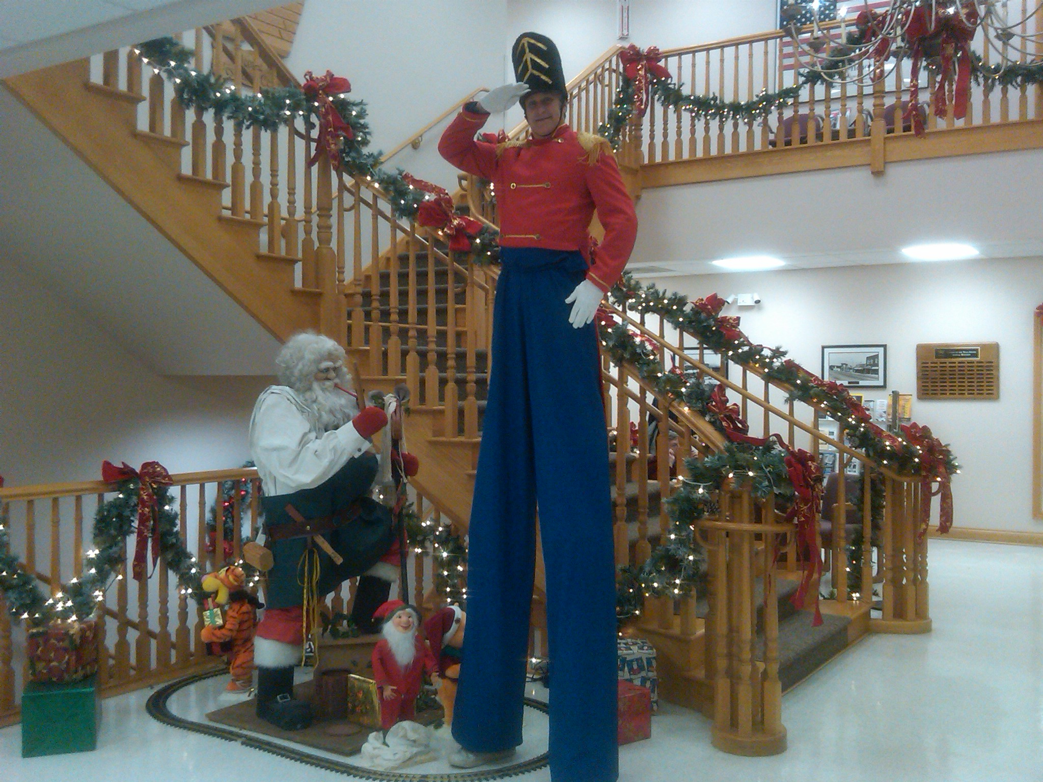 Hire Toy Soldier Entertainer on Stilts