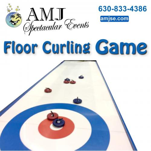 Floor Curling Game Fun Giant Game Rentals Chicago Turn any smooth surface into your very own Curling Rink! Curling Game Rentals - Rent fun curling game equipment in Chicago, IL. AMJ Spectacular Events is your complete party rental company offera an extensive line of fun curling game rental products.
